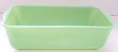 "Vintage Fire-King Oven Ware Jadeite 8.5"" x 4.25"" Loaf Baking Pan Dish"