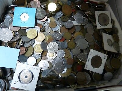 8Lbs Lot Of Mixed Foreign World Coins