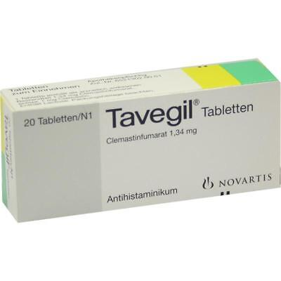 Tavegil Past. 20 Pcs. PZN1006571