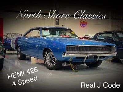Charger -R/T REAL HEMI J CODE VIN WITH 426/4SPD-RARE MUSCL 1968 Dodge Charger for sale!