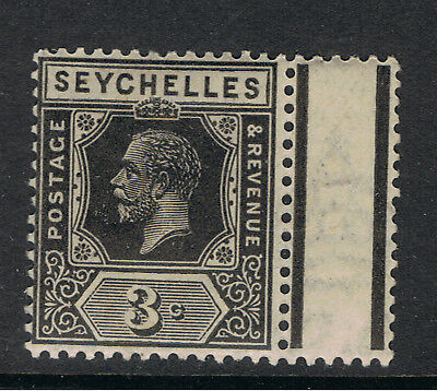 SEYCHELLES 1921 - 32 3c BLACK KING GEORGE V