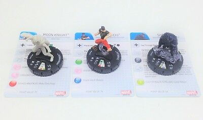 Heroclix Monthly OP Kit Heroes For Hire COMPLETE lot of 3 LE figures w/cards!