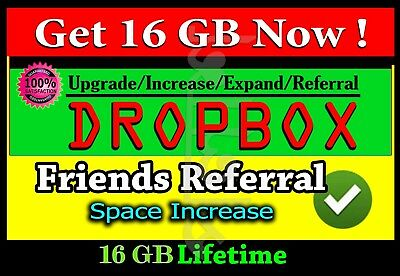 Increase dropbox space up to 16 GB permanently [ Limited Offer ]