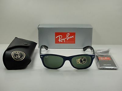 df5b3e8e103 RAY BAN RB2132 6239 58mm New Wayfarer Blue Suade Frames RX Glasses ...