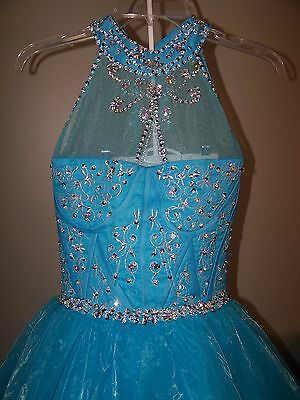 STUNNING!! Long Pageant Dress Girls Sz12/14  SPARKLES   JEWELS   NEW W/O TAGS