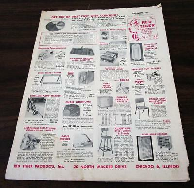 Vtg 1957 Red Tiger Products Chicago Industrial Office Supply Dealer Catalog N
