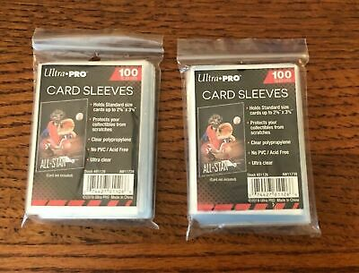 Ultra Pro Sleeves 100 Count Package Card Penny Soft Standard Size Sleeves 81126