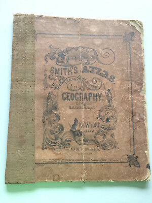 1849 Smith's Atlas Designed to Accompany the Geography New York Cady & Burgess