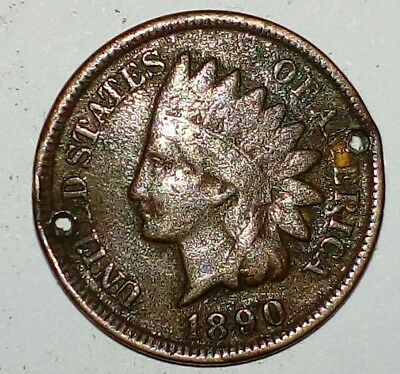 US Indian Head 1Cent 1890