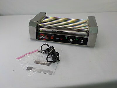 Olde Midway Electric 18 Hot Dog 7 Roller Grill Cooker Machine 900-Watt