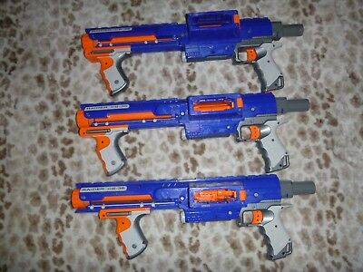 Lot Of 3 Used Nerf Raider CS-35 Blasters Only NO Attachments  TESTED !!!!