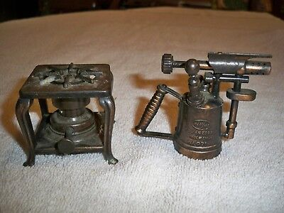 Vintage Diecast Pencil Sharpeners Play Me Parafin Stove And Blow Torch Spain