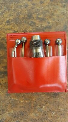 STARRETT S828HZ Wiggler/Center Finder, Complete With Case and 4 Attachments