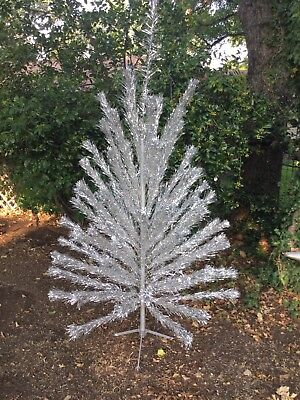 Vtg Authentic Aluminum Christmas Tree approx. 6.5 ft. 81 Branches