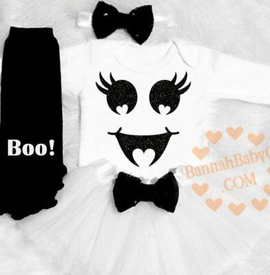 Baby Girl Ghost Costume Girls First Halloween Clothes 1st Halloween Ghost Outfit