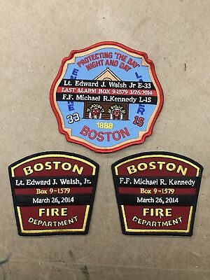 Boston Fire Department Memorial Three Patch Set