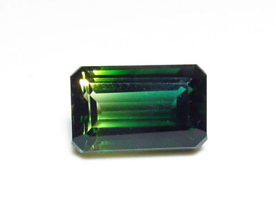 15x10mm AAA BI-COLOR GREEN GOLD faceted OCTAGON CUT LOOSE GEMSTONE 9CT