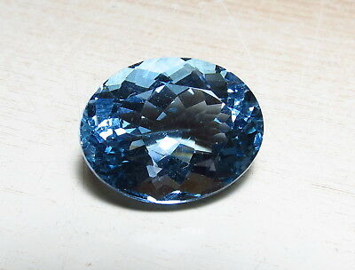 21x16mm AAA BLUE QUARTZ faceted OVAL CUT LOOSE GEMSTONE 23CT