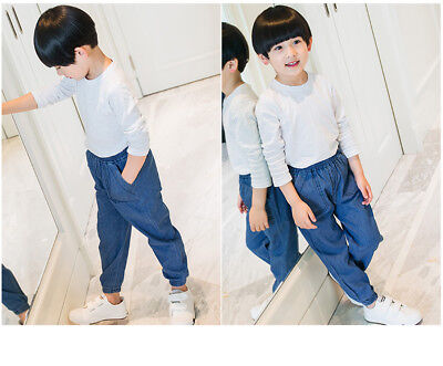 Fashion Baby Boys Girls Summer Thin Jeans Casual Sports Denim Pants Trousers New