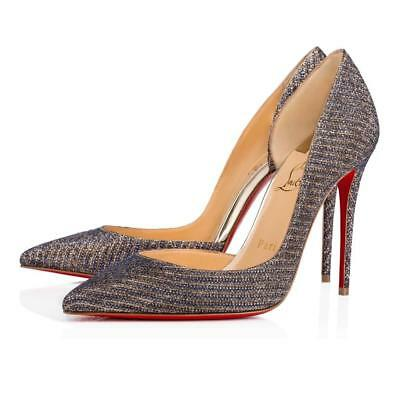 465325625ef CHRISTIAN LOUBOUTIN IRIZA 100 Glitter Chain D Orsay Heels Pumps Shoes  695  -  599.99