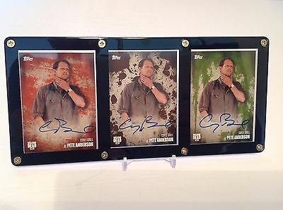 The Walking Dead Corey Brill as Pete Anderson Season 5 Autographed 3 Card Set
