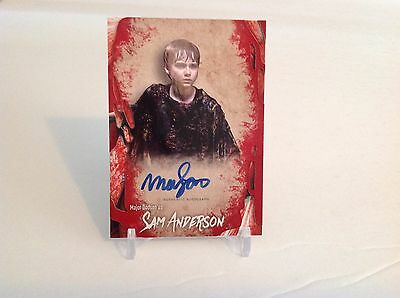 The Walking Dead Sam Anderson Survival Box Autograph Card