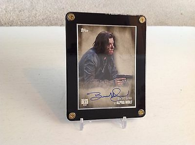 The Walking Dead Benedict Samuel as Alpha Wolf Season 5 Autograph Card