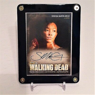 The Walking Dead Sonequa Martin-Green As Sasha Season 3 Autograph Card