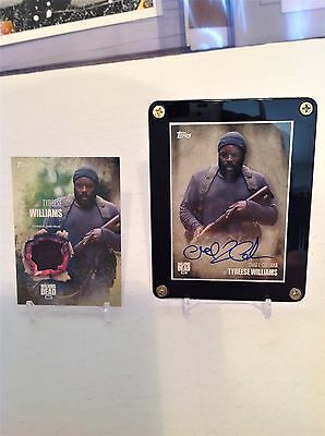 The Walking Dead Chad Coleman as Tyreese Autograph Card and Relic Card Set