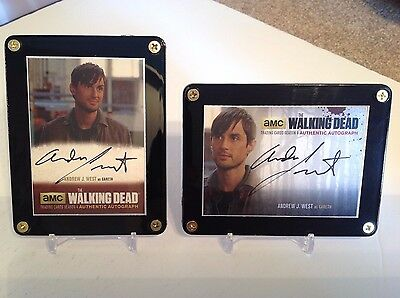 The Walking Dead Andrew J. West as Gareth Season 4 Autograph 2 Card Set