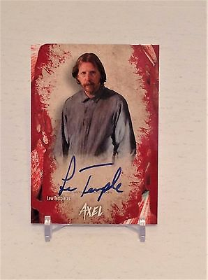 The Walking Dead Survival Box Axel Autograph Card Lew Temple