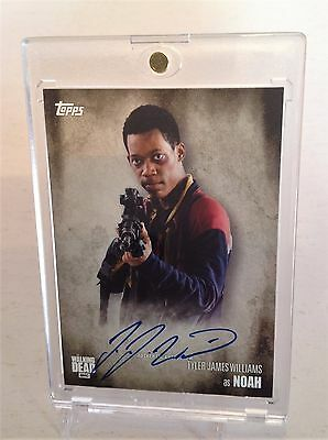 The Walking Dead Tyler James Williams as Noah Season 5 Autograph Card