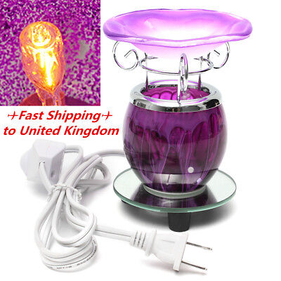 Purple Electric Scented Oil Warmer Lamp Wax Bulb Burner Fragrance Diffuser Gift