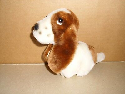 "HUSH PUPPIES Dog Basset Hound Plush Wolverine World Wide Stuffed  6"" HTF VINTAGE"