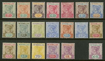 Seychelles  1890-1900  Scott # 1-21  Mint Lightly Hinged To Hinged Part Set