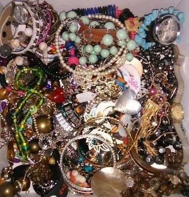 Vintage To Now Estate Find Jewelry Lot Junk Drawer.lot