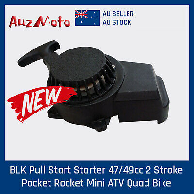BLK Alloy Pull Start Starter 2 Stroke 43/47/49cc  Mini Dirt Pocket Bike ATV Quad