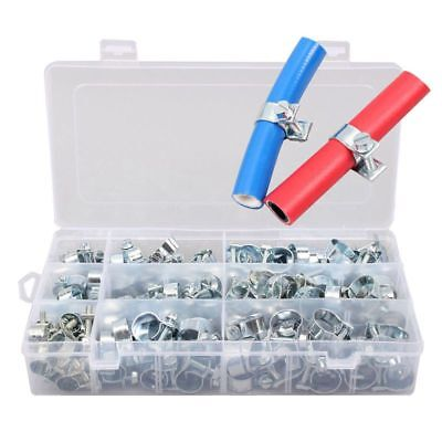 135tg Galvanized Hose Clamps Assortment 8-18mm Screwdriver Hose Clamps B1B5