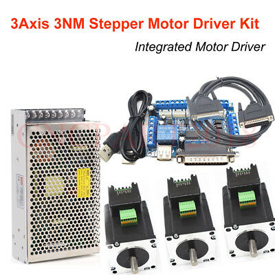 NEMA23 3Axis 4Axis Stepper Motor Kit 3Nm Integrated Driver 425oz.in &5Axis Board