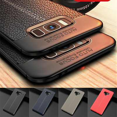 For Samsung Galaxy Note 9 8 Shockproof Rubber Slim TPU Leather Back Case Cover