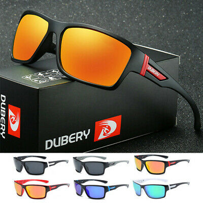 DUBERY Mens Sports Outdoor Polarized Sunglasses Riding Fishing Square Eyewear