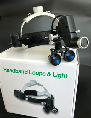 3.5x Magnification Professional Loupes with Adjustable Headband and 5W Headlight