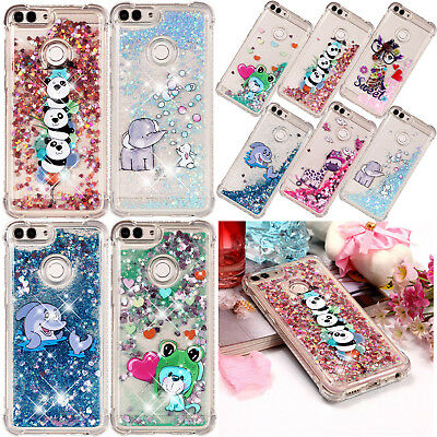 Patterned Glitter Quicksand TPU Case Phone Cover For Huawei P10 P20 Lite P Smart