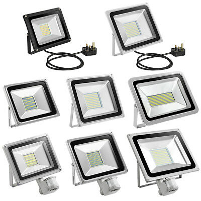 LED Floodlight SMD PIR Motion Sensor 10W 20W 30W 50W 100W Outdoor Security Lamp