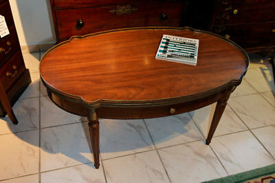 Oval Sofa Table, Mahogany