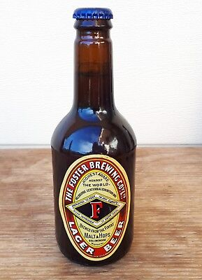 Old Unopened Fosters Larger Beer Bottle -Brewery, Advertising
