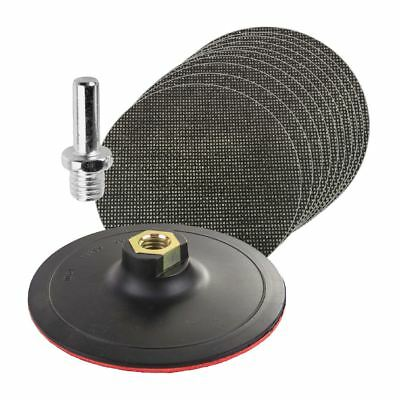 20 x Mixed Hook & Loop 125mm Mesh Sanding Discs with Backing Pad & Drill Adaptor