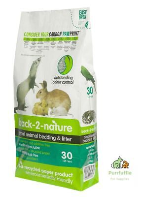 BACK 2 NATURE Litter Bedding Small Animal Rabbit Guinea Pig Bird Reptile