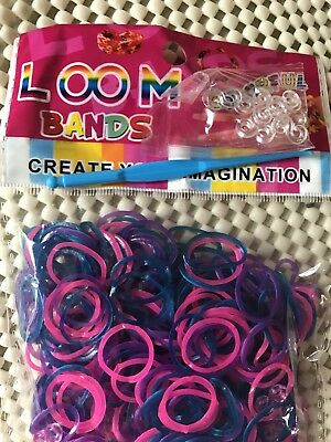 200pcs Rubber Bands for Hair Bands & Kid  Bracelet Loom Craft