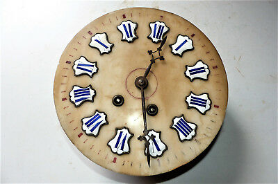 Chime Clock Antique movement Alabaster eye of ox digits enameled